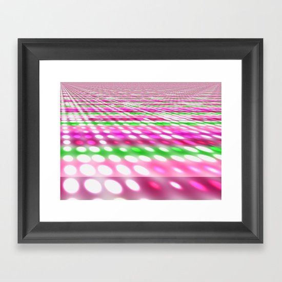 Purple and Dots Framed Art Print