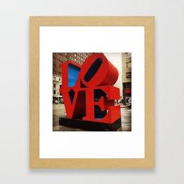 Love Sculpture - NYC Framed Art Print