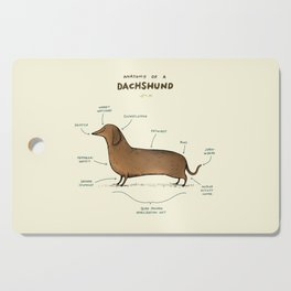 Anatomy of a Dachshund Cutting Board