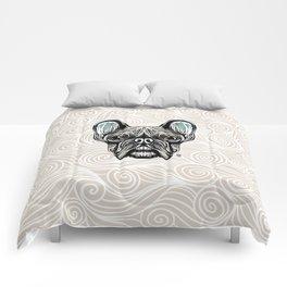 French Bulldog Smilling Comforters