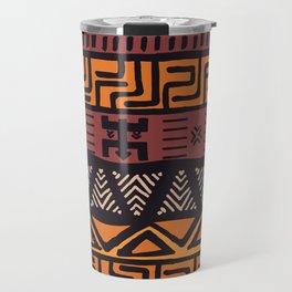 Tribal ethnic geometric pattern 021 Travel Mug