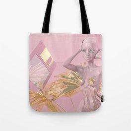 Pastel Humanoid Diskette Tote Bag