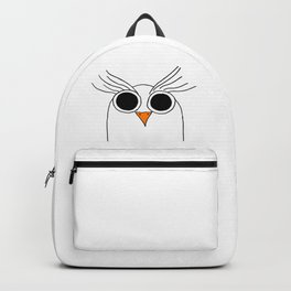 Drawing cartoon of a owl Backpack