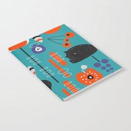 Modern birds and sleepy cats Notebook