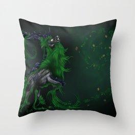Earth elemental deer Throw Pillow
