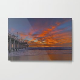 Red Clouds on the North Side Metal Print