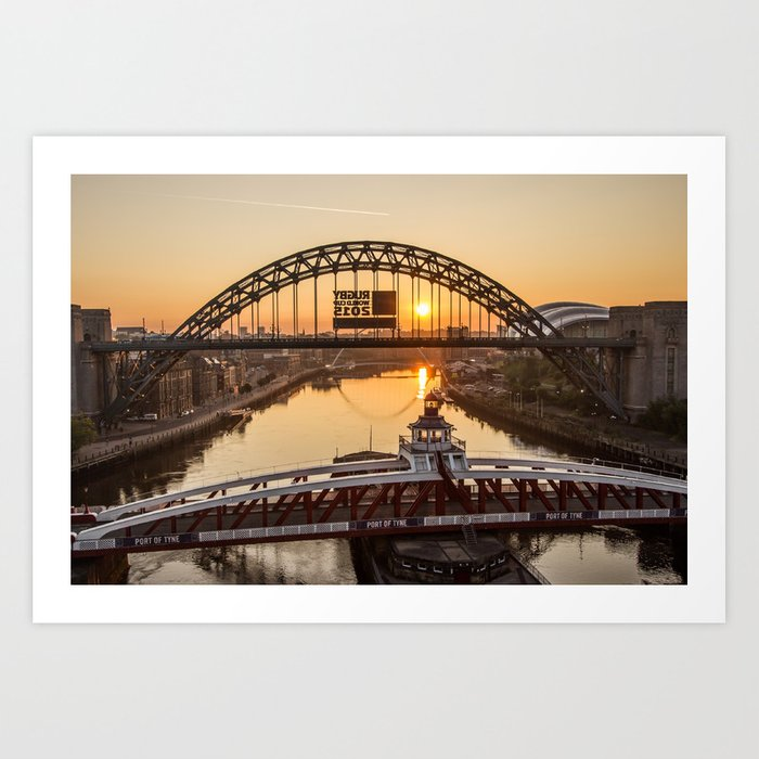 Tyne Bridge Sunrise Art Print