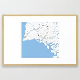 Minimalist Modern Map of Karachi, Pakistan 6 Framed Art Print