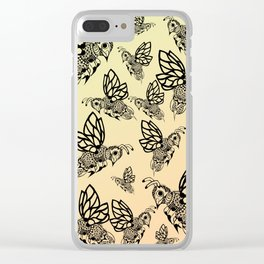 Honey Bee Pattern Clear iPhone Case