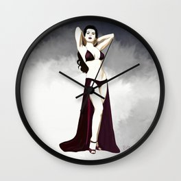 Vintage pinup girl, 1930 Wall Clock