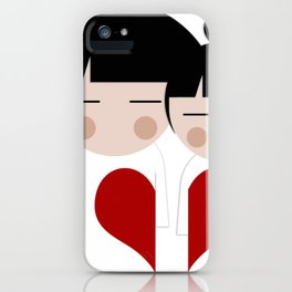 japan animation (in love) iPhone Case