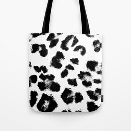 Black & White Leopard Print Tote Bag