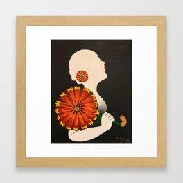Silhouette Blanche Framed Art Print