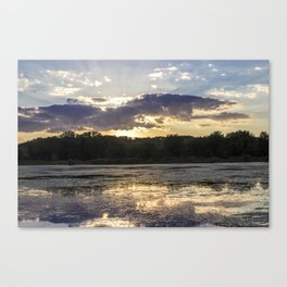 Sunset on Mississippi River Canvas Print