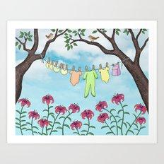 clean baby, happy home Art Print
