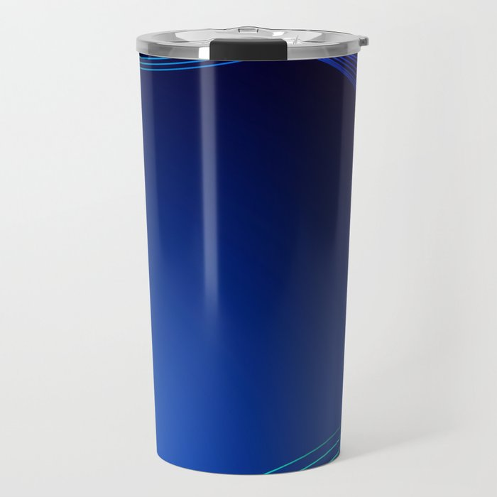 Greeting card of blue lines on a blue background. Travel Mug