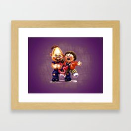 Feeding Chunk Chunks Framed Art Print