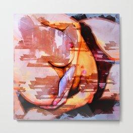 Abstract Nude Metal Print