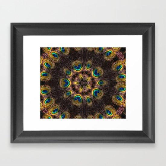 The Eye of the Peacock Framed Art Print