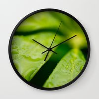 jamaica Wall Clocks featuring Jamaica Greenery by Heartland Photography By SJW