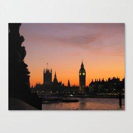 The Sun Sets on England Canvas Print