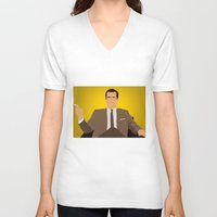 mad men V-neck T-shirts featuring Don Draper - Mad Men by Tom Storrer