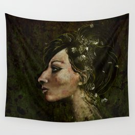 The Bride of Glass Blossoms Wall Tapestry
