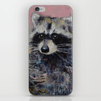 raccoon iPhone & iPod Skins featuring Raccoon by Michael Creese