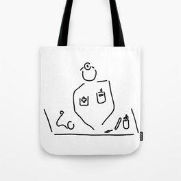 doctor with medicine utensils Tote Bag