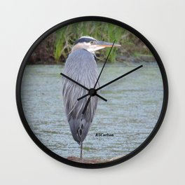 Blue Heron at Hillsboro Pond Wall Clock
