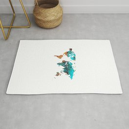 Unique Colorful World Map 30 - Sharon Cummings Rug