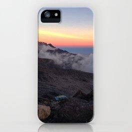 Kilimanjaro Sunset iPhone Case