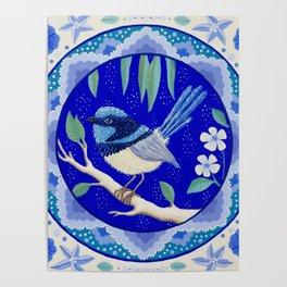 Blue Wren Beauty Poster