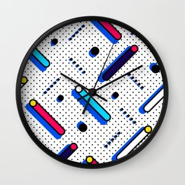 Bright Background in Neo Memphis Style Wall Clock