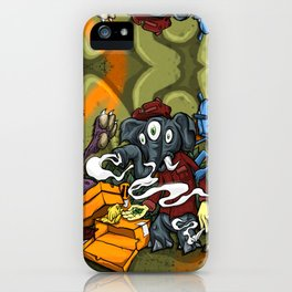 Clique Brown Royal Stain iPhone Case