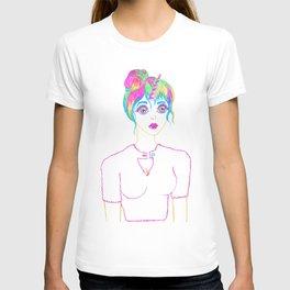 Psychedelic Rainbow Unicorn Girl T-shirt
