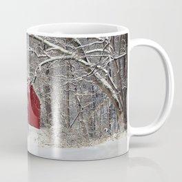 Red Barn in the Snow 2011 Coffee Mug