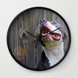 Pit-iful Smile Wall Clock