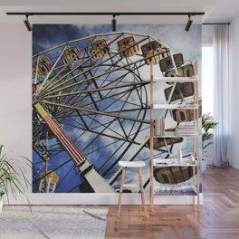 Vintage photo of ferris wheel Wall Mural