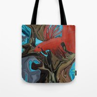 band Tote Bags featuring Betta's Band by Distortion Art