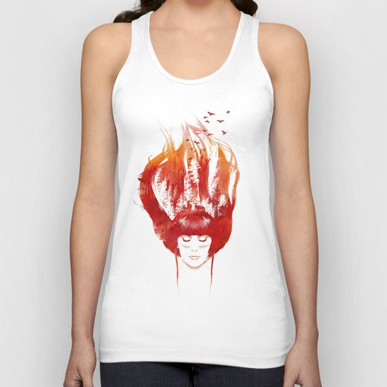 Burning Forest Unisex Tank Top