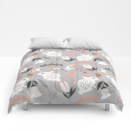 Rabbits and Flowers 007 Comforters