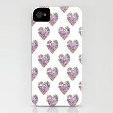 True Love, Passport Stamp Heart iPhone (4, 4s) Slim Case
