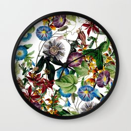 Exotic Bloom Wall Clock