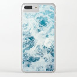 Sea Texture Clear iPhone Case
