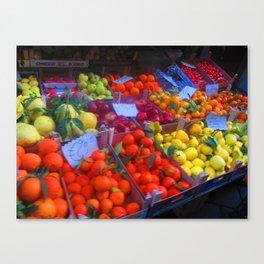 Fruit Stall, Sorrento, Italia Canvas Print