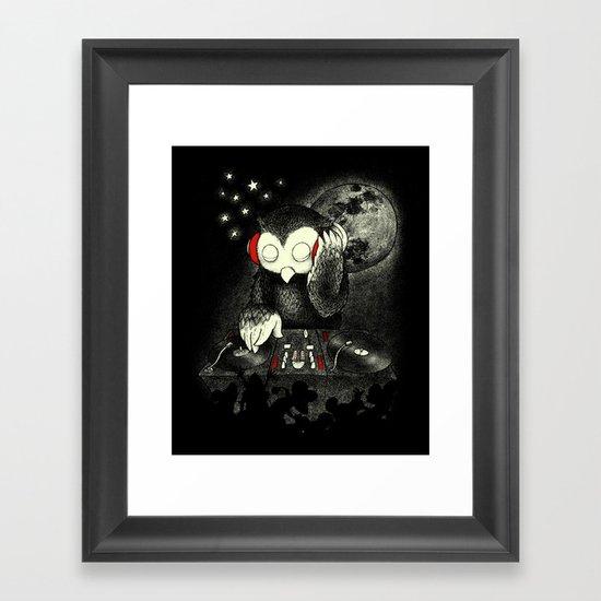 Owl the Night Framed Art Print