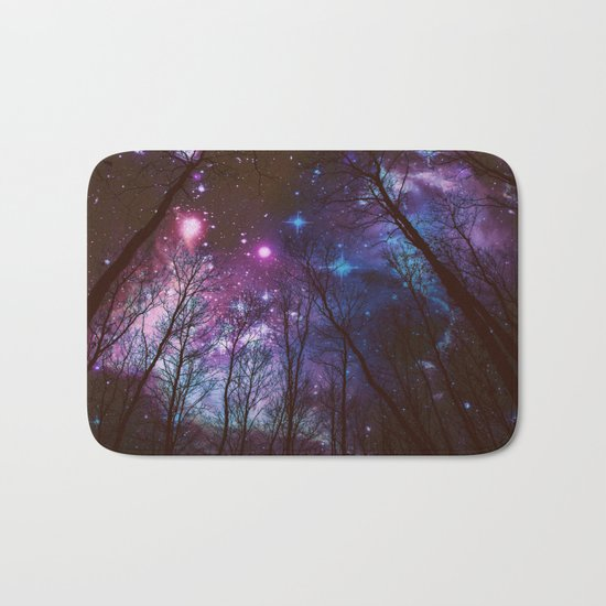 Black Trees Dark Space. Bath Mat