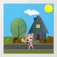 chibi Canvas Prints featuring Chibi Girl by ChibiGirl