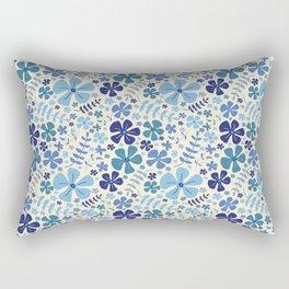 My Little Garden blue & green Rectangular Pillow